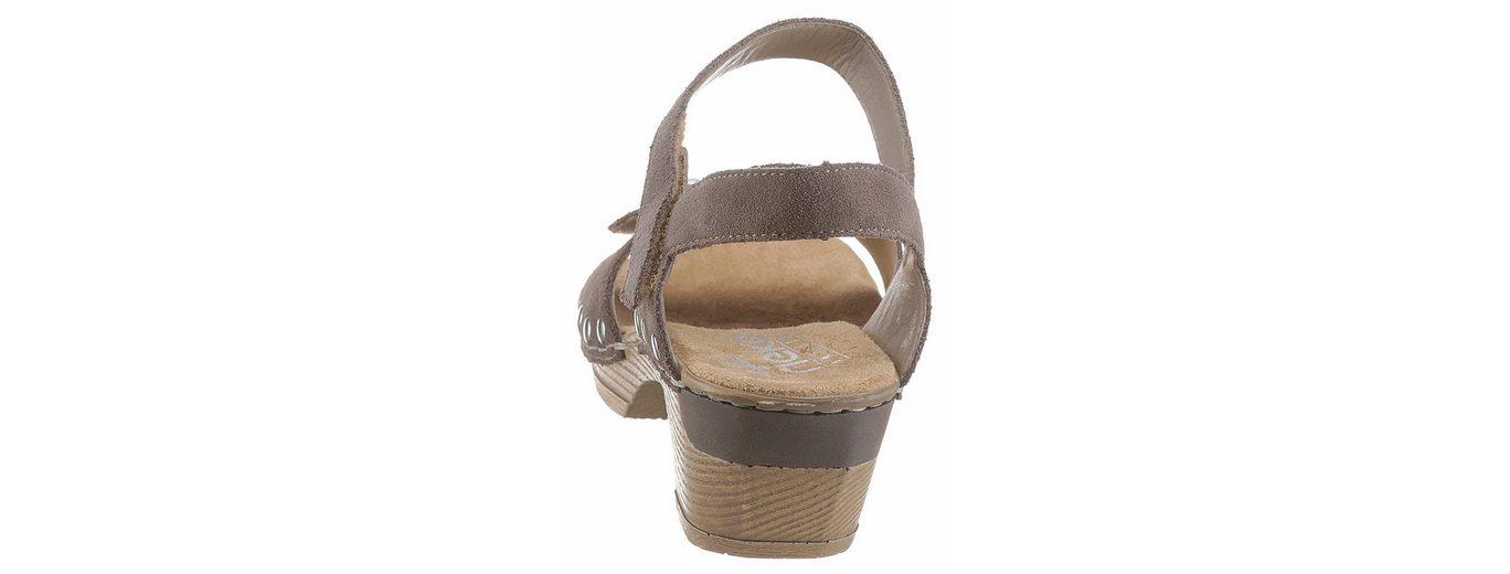 Rieker Sandalette, mit Perlen- und Nietenverzierung