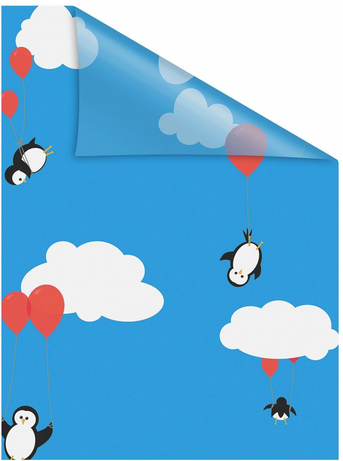 Fensterfolie »Pinguine«, LICHTBLICK, blickdicht, strukturiert, selbstklebend, Sichtschutz - broschei
