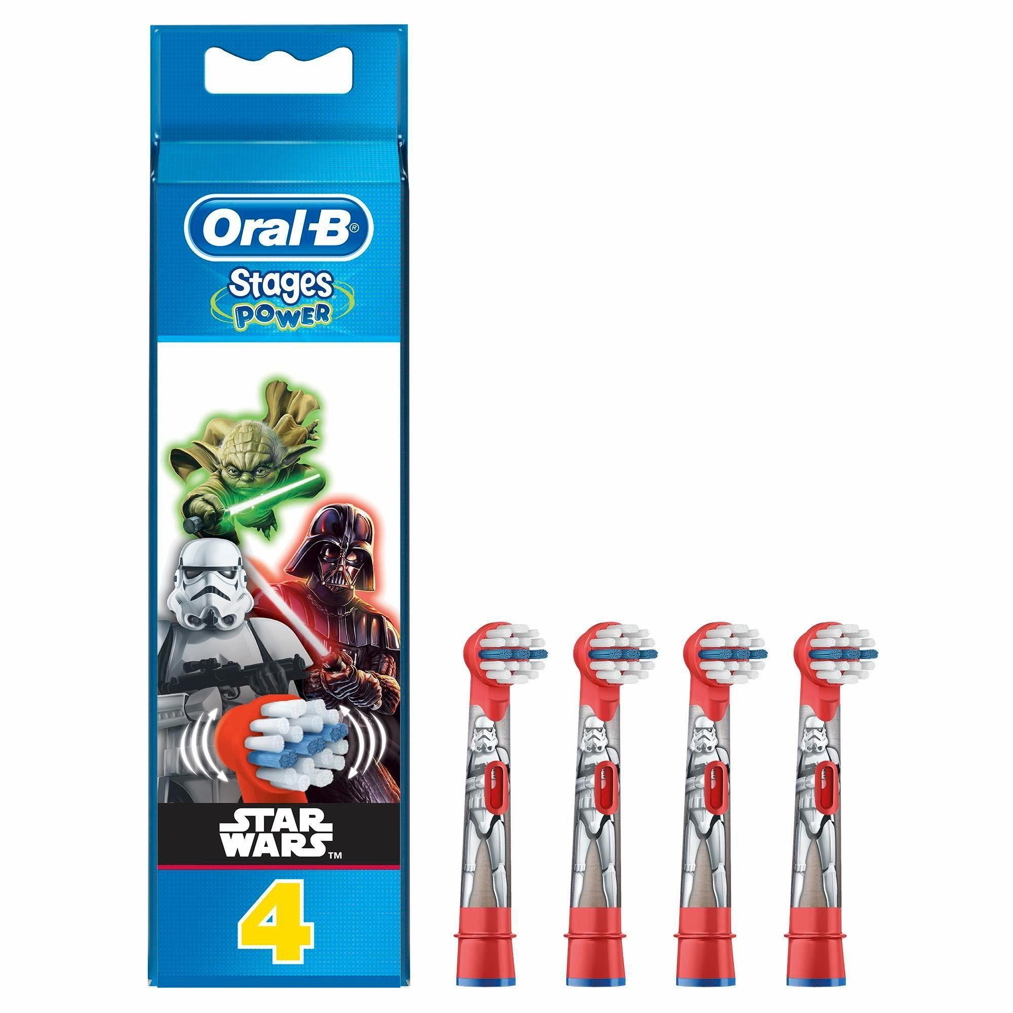 Oral-B Aufsteckbürsten Stages Power, Star Wars, 4er Pack