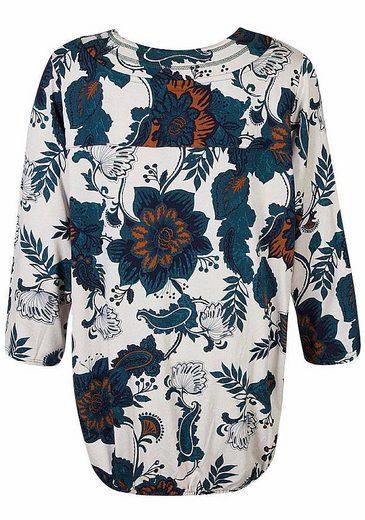 Zhenzi 3/4-Arm-Shirt, mit floralen Print
