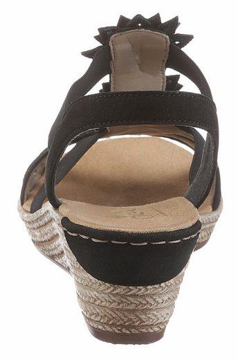 Rieker Sandalette, mit modischen Blüten verziert