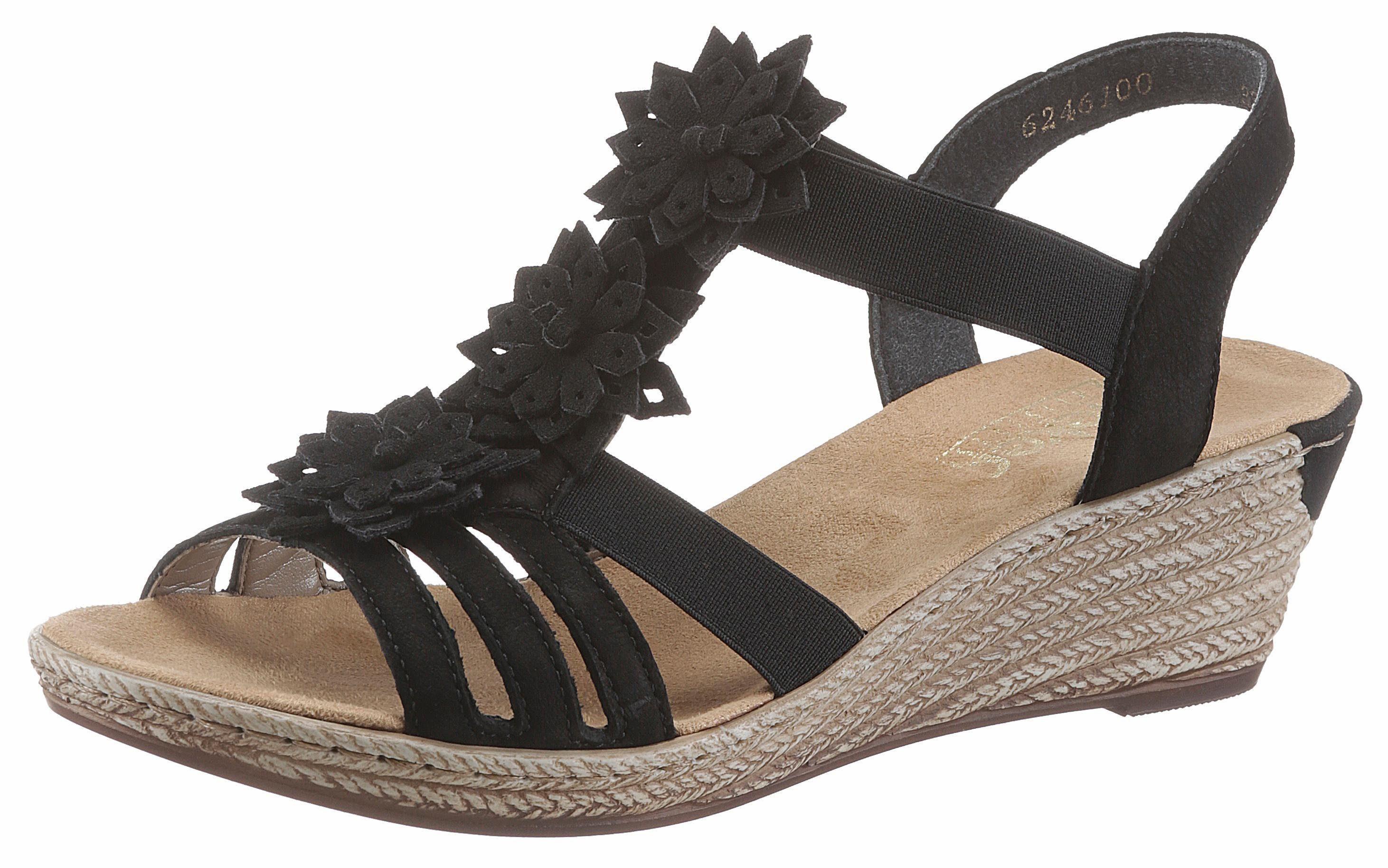 Rieker Sandalette mit modischen Blüten verziert | OTTO