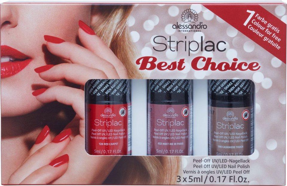 88dbfc3b6b9cc2 alessandro international Nagellack-Set »Best Choise Striplac«, 3-tlg ...