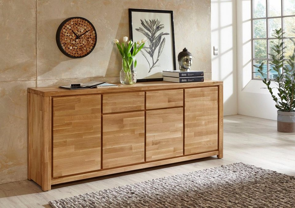 relita sideboard marco breite 192 cm in eiche massiv online kaufen otto. Black Bedroom Furniture Sets. Home Design Ideas