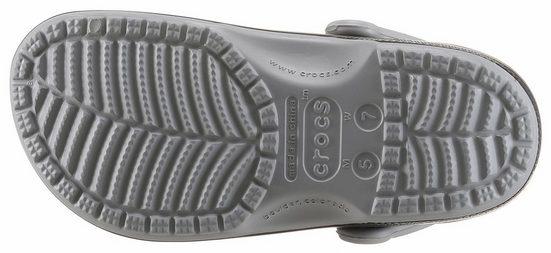 Sabot Graphique Classique En Carbone Crocs, Avec Garniture Intérieure Contrastante
