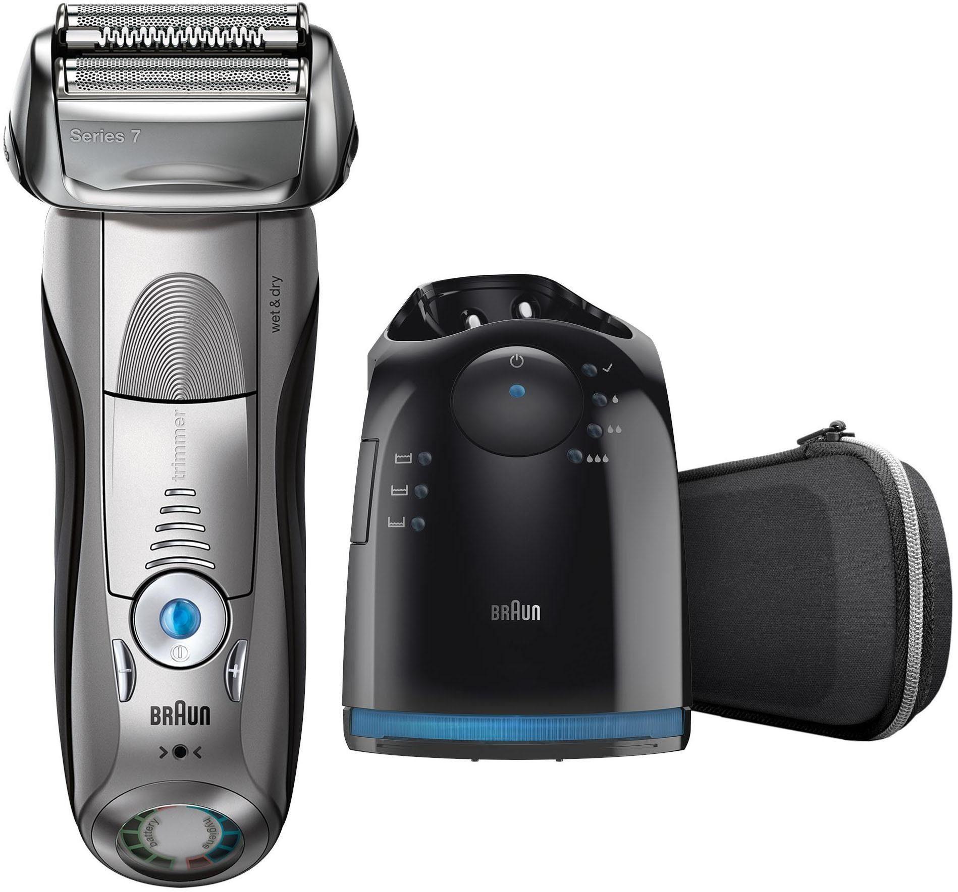 Braun Elektrorasierer Series 7 7898cc, Wet & Dry mit Reinigungs- und Ladestation