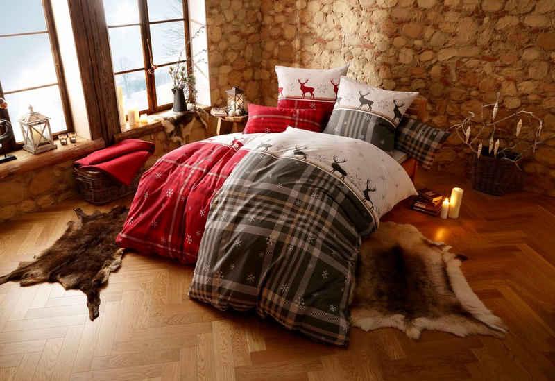 Bettwäsche »Wenda«, my home, im winterlichen Karo-Design