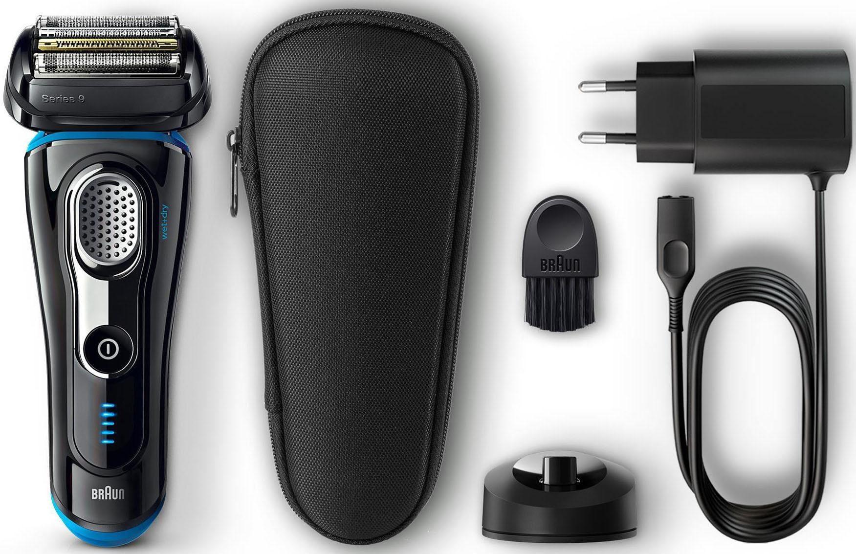 Braun Elektrorasierer Series 9 9240s, SmartClick-Präzisionstrimmer, mit Ladestation und Reise- Etui, Wet&Dry
