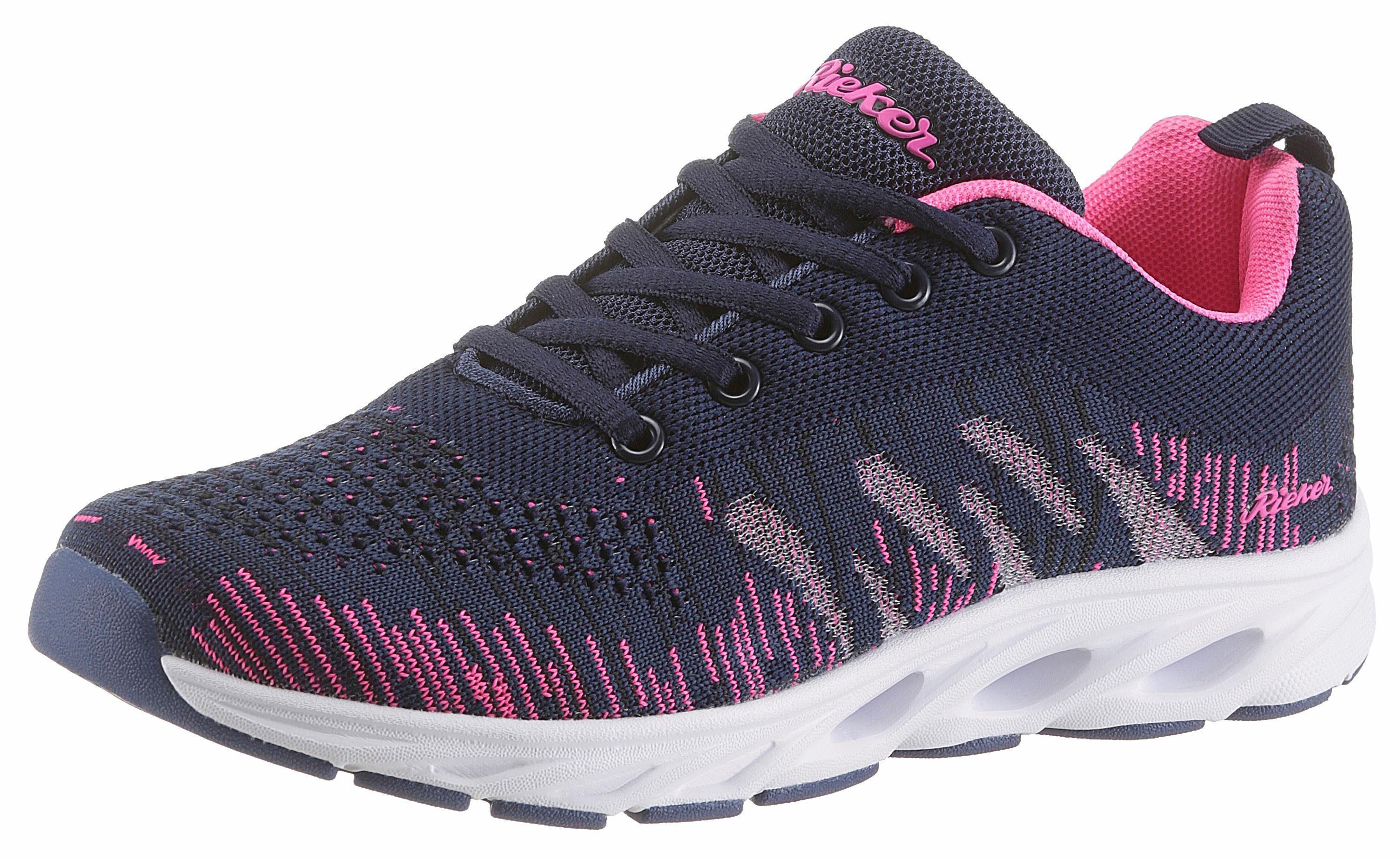 Rieker Sneaker, aus sportlichem Mesh, blau, dunkelblau-pink