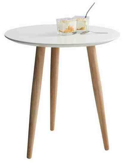 GMK Home & Living Couchtisch «Calluna», in 2 unterschiedlichen Größen, Höhen, sowie drei Farben, mit runder Tischplatte