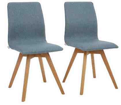 GMK Home & Living GMK Stühle »Dalea« im 2 tlg. Set, Bezug aus einem interessanten Materialmix