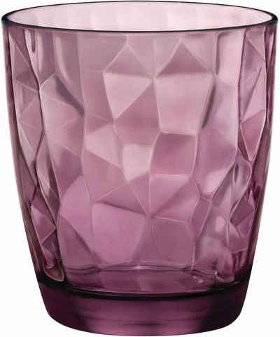 Bormioli Rocco Whiskyglas »Diamond«, Glas, effektvolle Struktur, 6-teilig