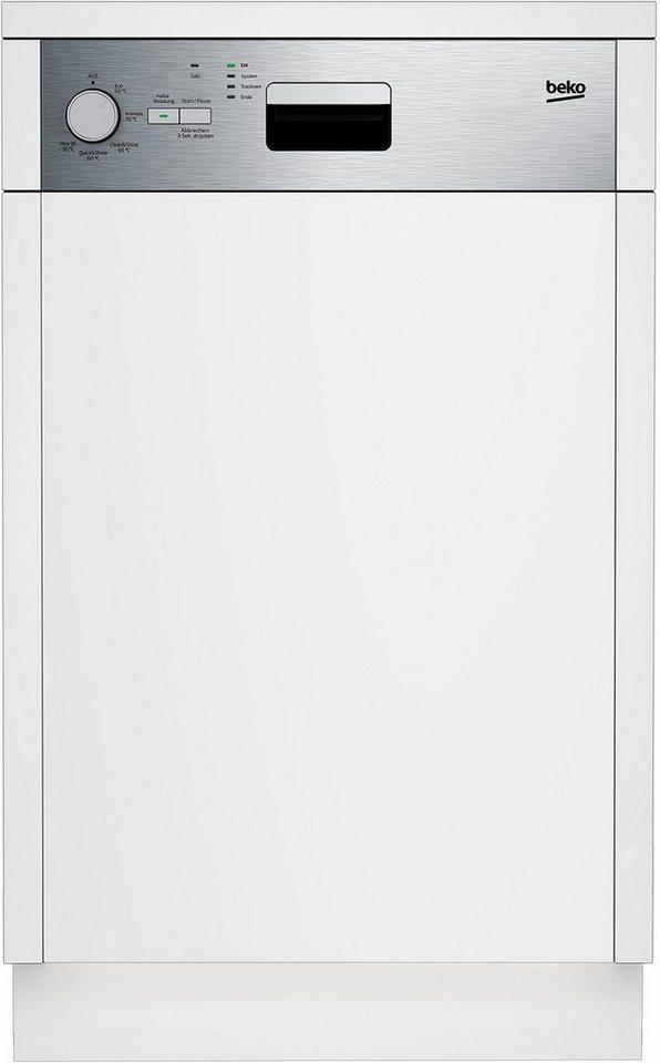 beko teilintegrierbarer geschirrsp ler dss05010x 13 l 10 ma gedecke energieeffizienzklasse. Black Bedroom Furniture Sets. Home Design Ideas