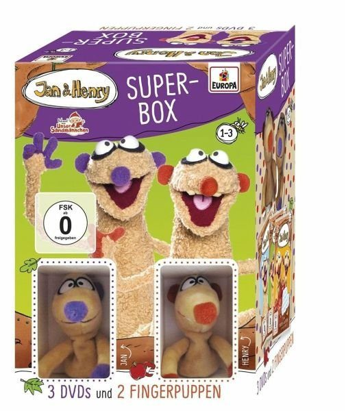 DVD »Jan & Henry: Super-Box - 3 DVDs und 2...«