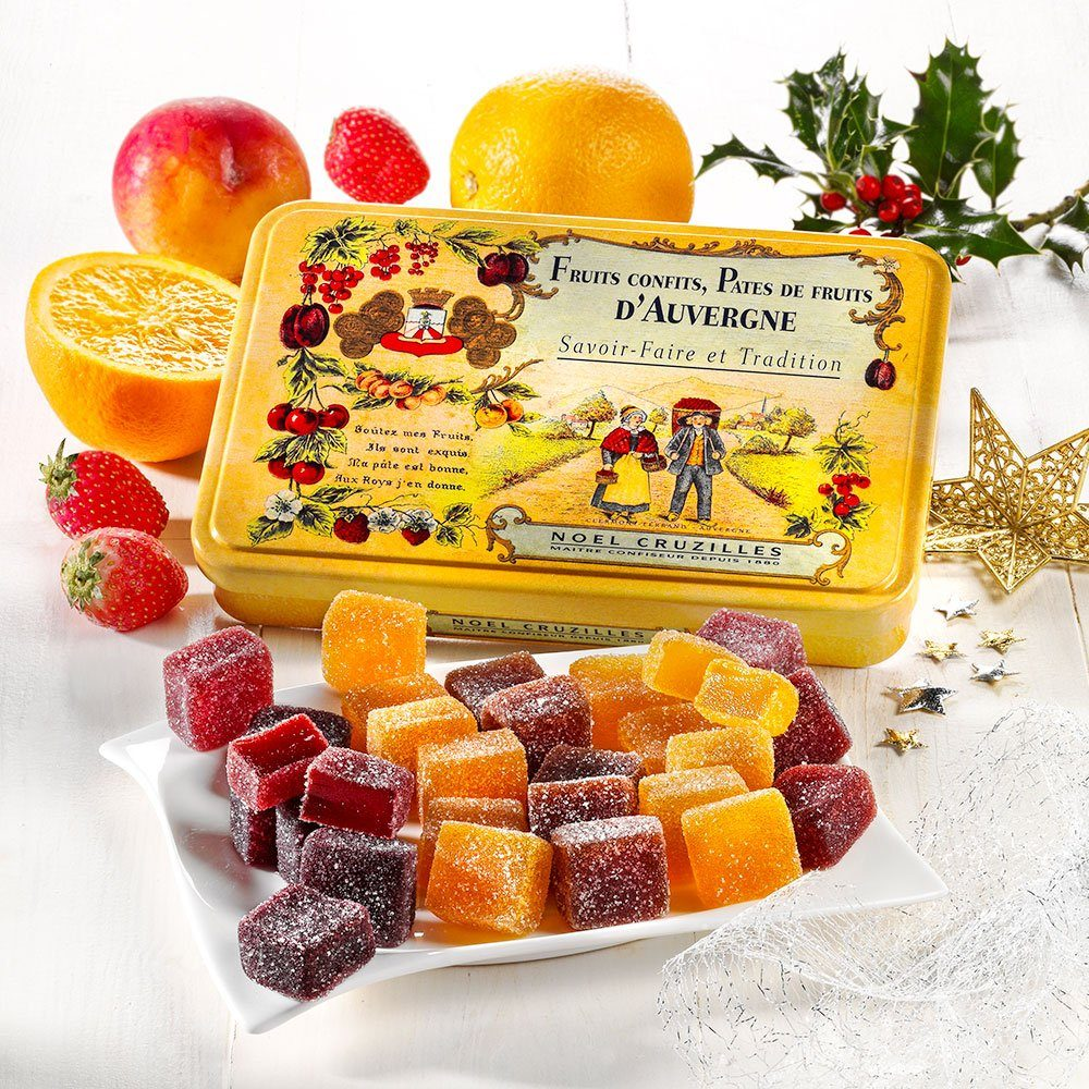 Fruchtgelee in Weihnachts Editions Dose