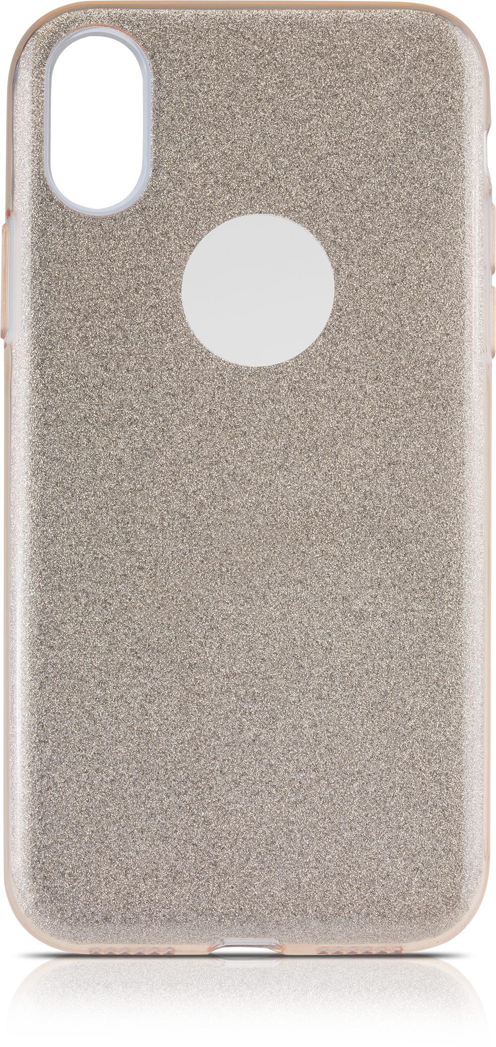 Scutes Deluxe GSM - Zubehör »Schutzhülle TPU - iPhone X glitzer gold«