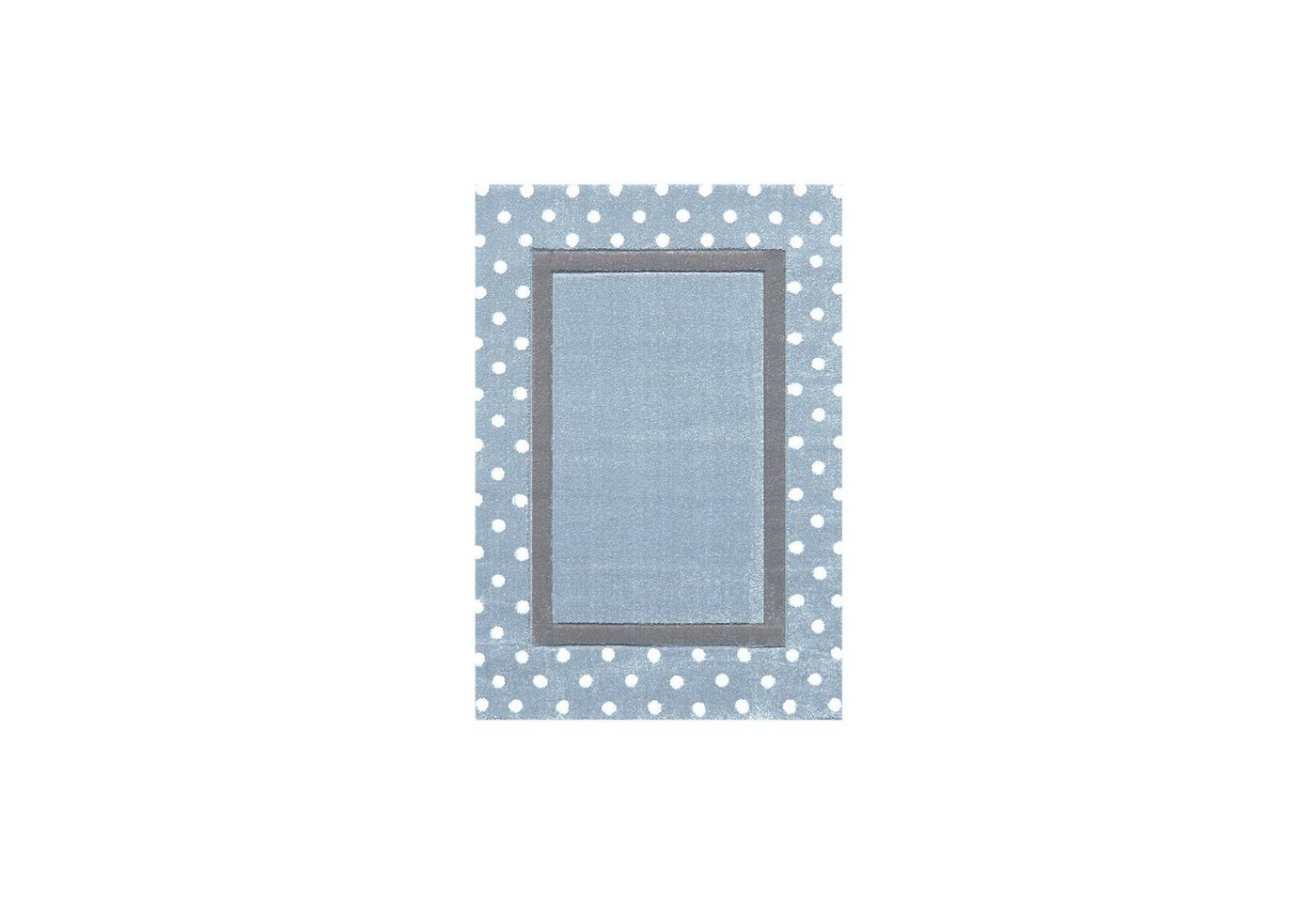 Happy Rugs Kinderteppich, POINT blau/silbergrau | Kinderzimmer > Textilien für Kinder > Kinderteppiche | Blau | Happy Rugs