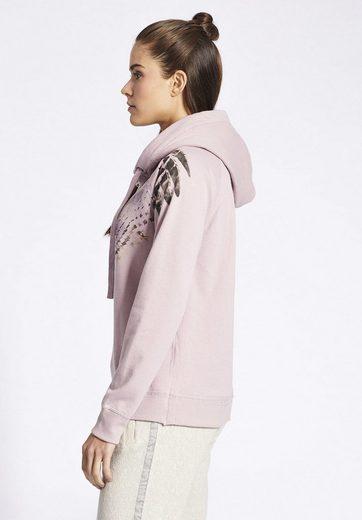 khujo Kapuzensweatshirt JOLANTE WITH PLACED PRINT, mit Print auf der Front