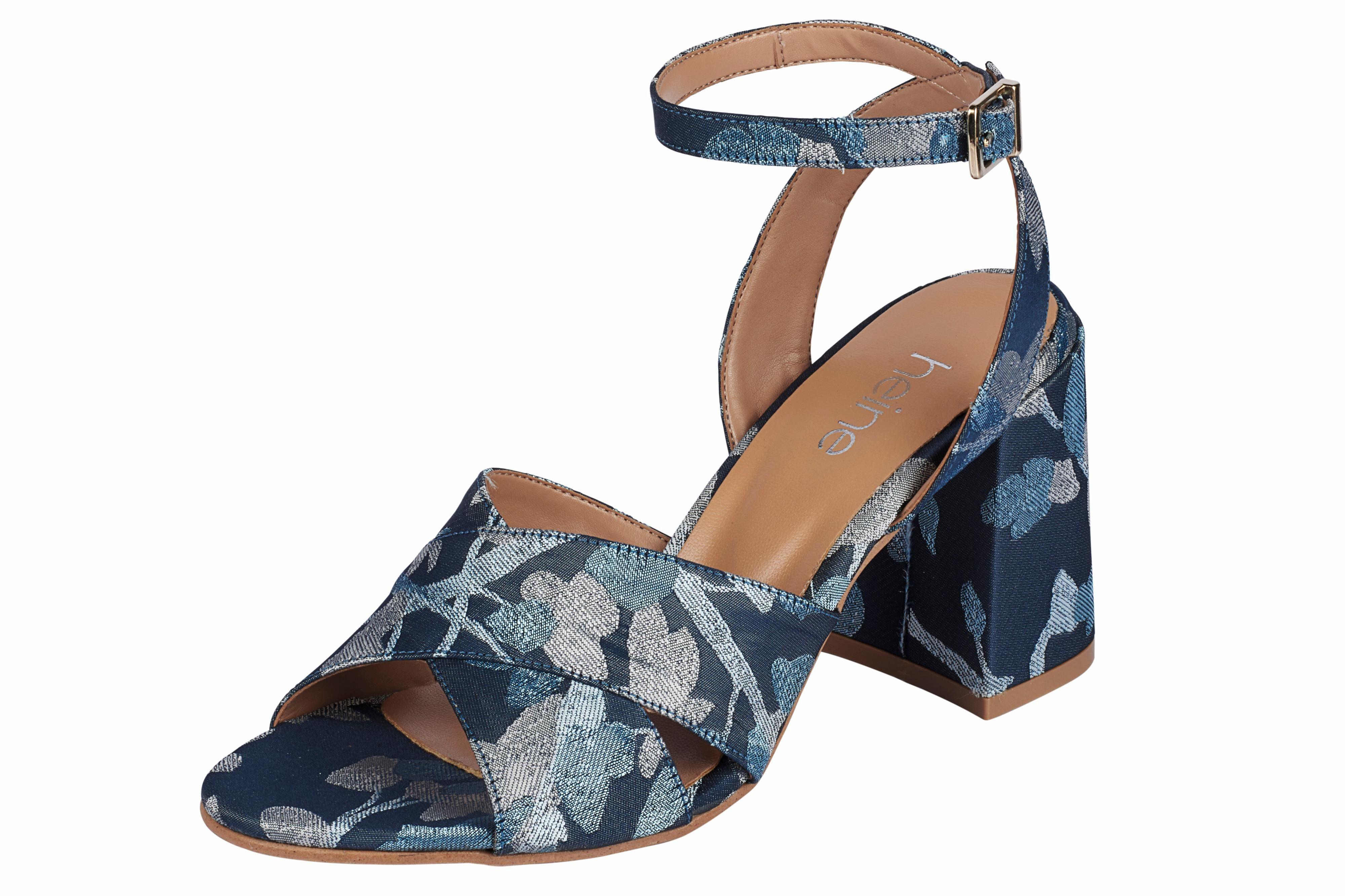 Heine Sandalette aus Satinware online kaufen  azurblau#ft5_slash#marine