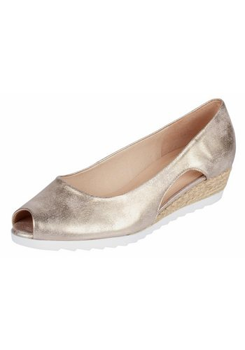 Damen Gabor Comfort Keilpumps mit Metallic-Effekt gold | 04058394223730