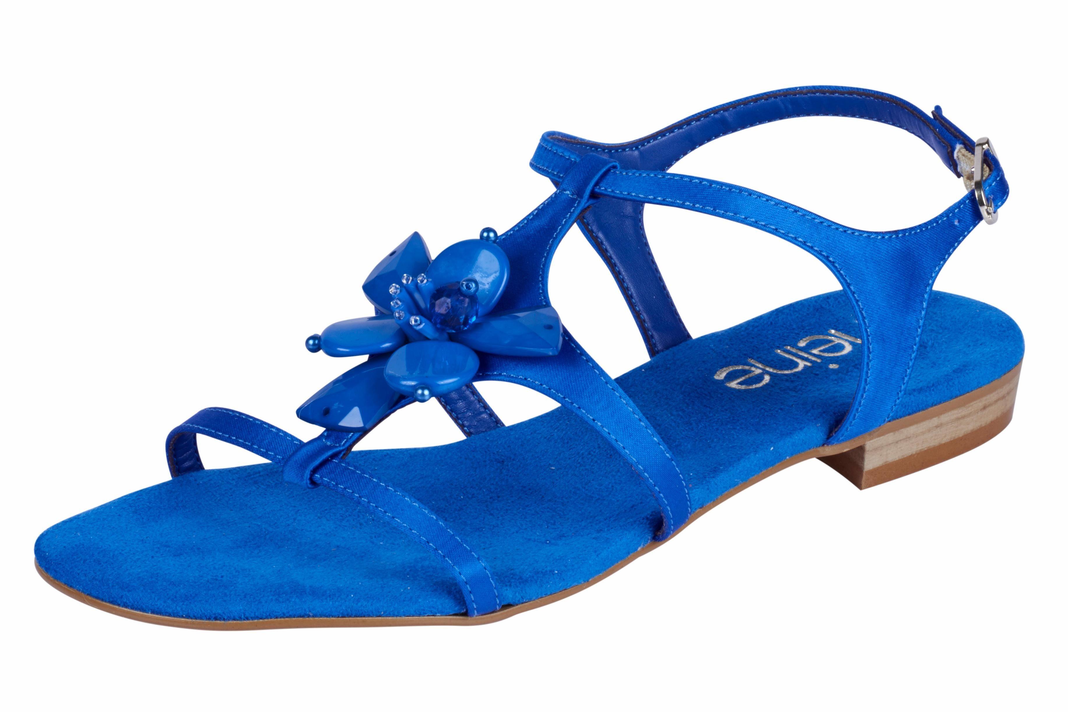 Heine Sandalette mit Blütenapplikation kaufen  blau