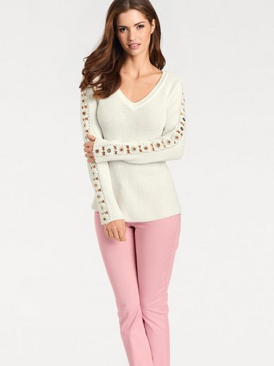 Ashley Brooke By Heine Sweater With Flower Application