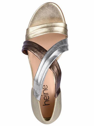Heine Sandalette mit Metallic-Effekt