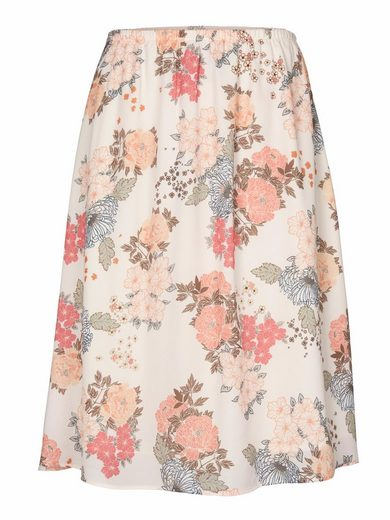Linea Tesini By Heine Print Skirt With An Elastic Waist Band