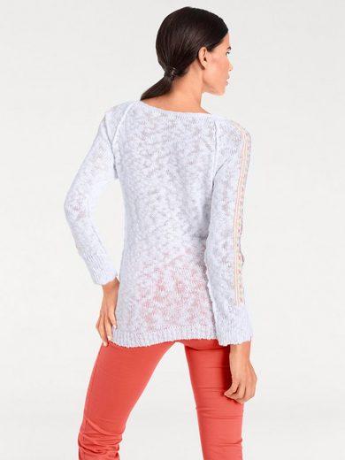 Ashley Brooke Par Heine Sweater Avec Broderie