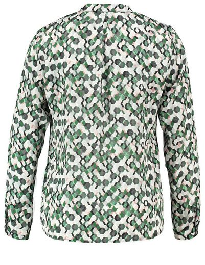 Typhoon Blouse Long Sleeve Blouse With Geometric Allover-print