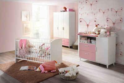 rauch BLUE Babyzimmer-Komplettset »Nizza«, (Set, 3-St), Bett + Wickelkommode + 3 trg. Schrank