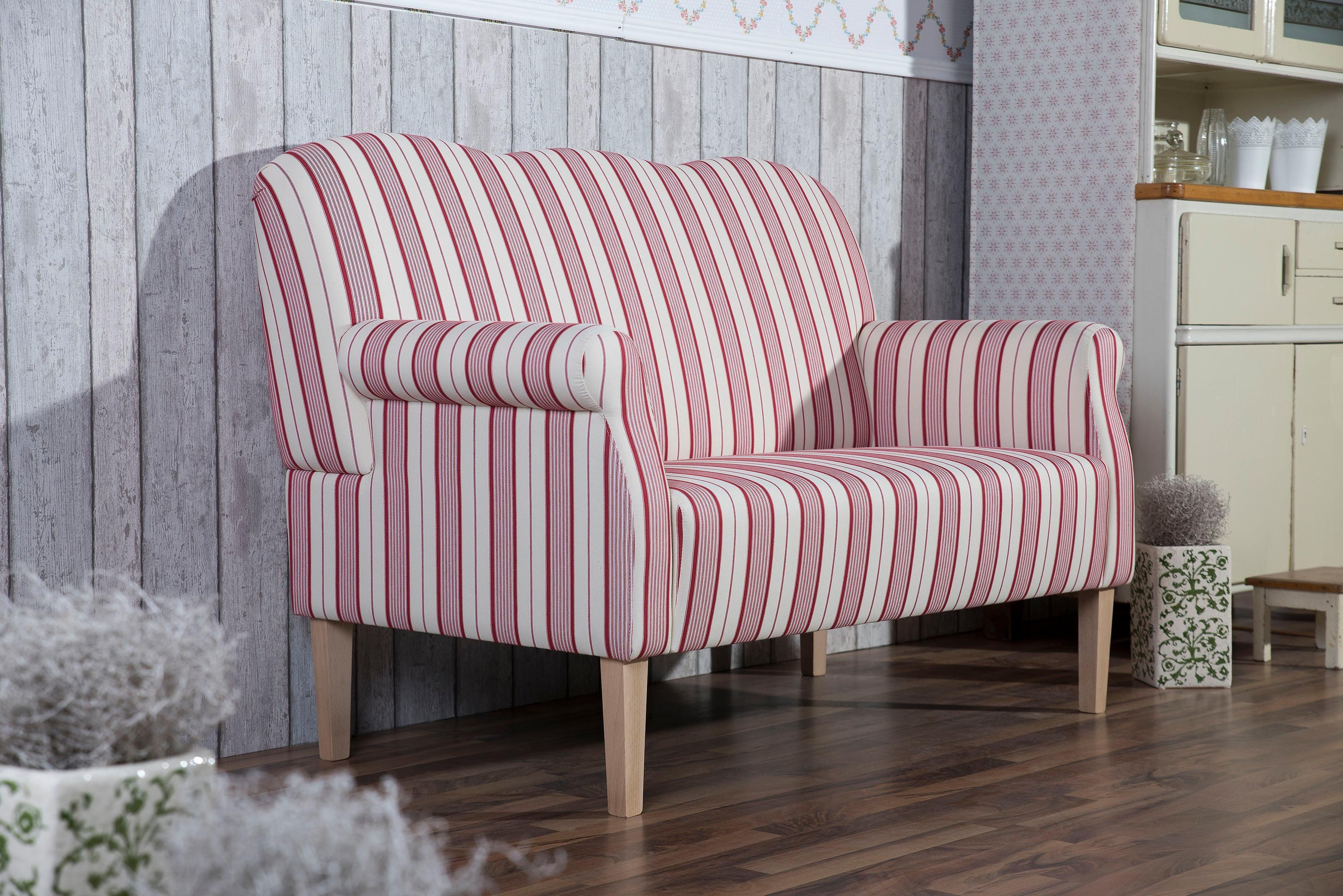 Max Winzer® Hochlehner 2-Sitzer Küchensofa »Juuma« mit Federkern, im Retrodesign