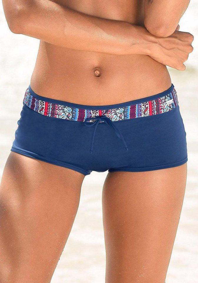 LASCANA Hotpants mit Gürtel im schönem Floralprint | Bekleidung > Hosen > Hotpants | Blau | LASCANA