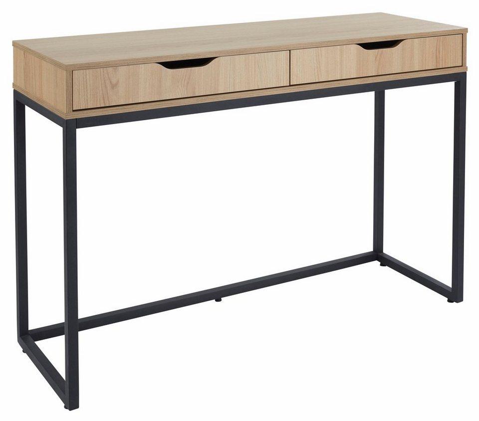 gmk home living schreibtisch dalem mit metallgestell online kaufen otto. Black Bedroom Furniture Sets. Home Design Ideas
