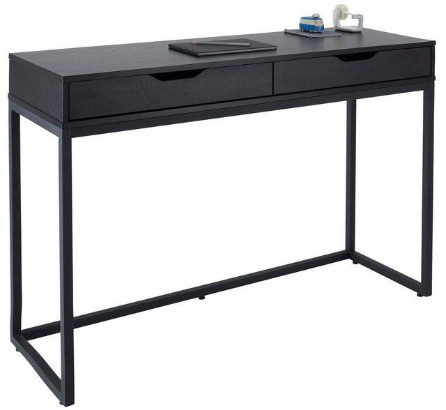 GMK Home & Living Schreibtisch Dalem mit Metallgestell schwarz | 04000329007885