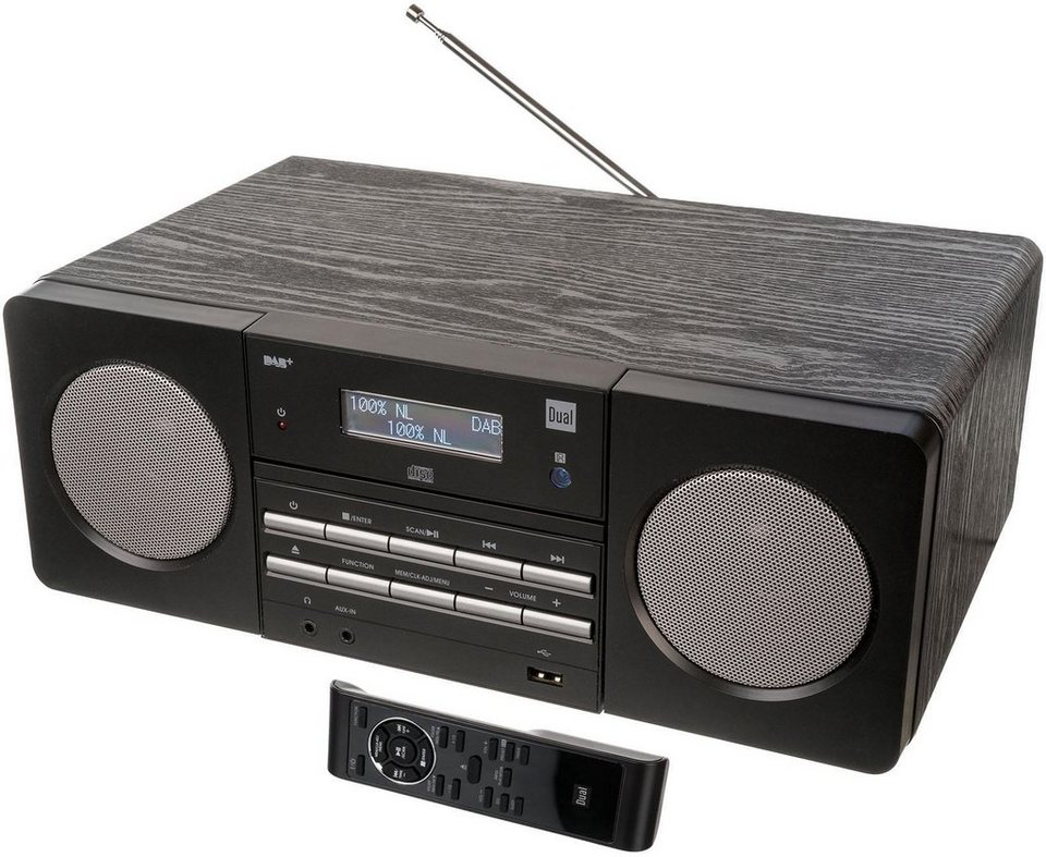 dual dab 410 microanlage digitalradio dab fm tuner. Black Bedroom Furniture Sets. Home Design Ideas