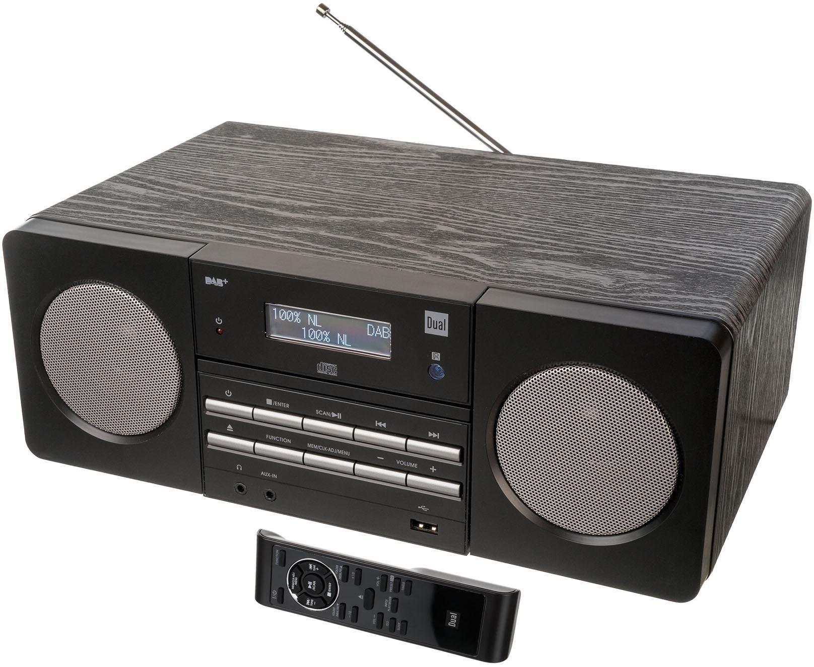 Dual DAB 410 Microanlage, Digitalradio (DAB+), RDS, 1x USB