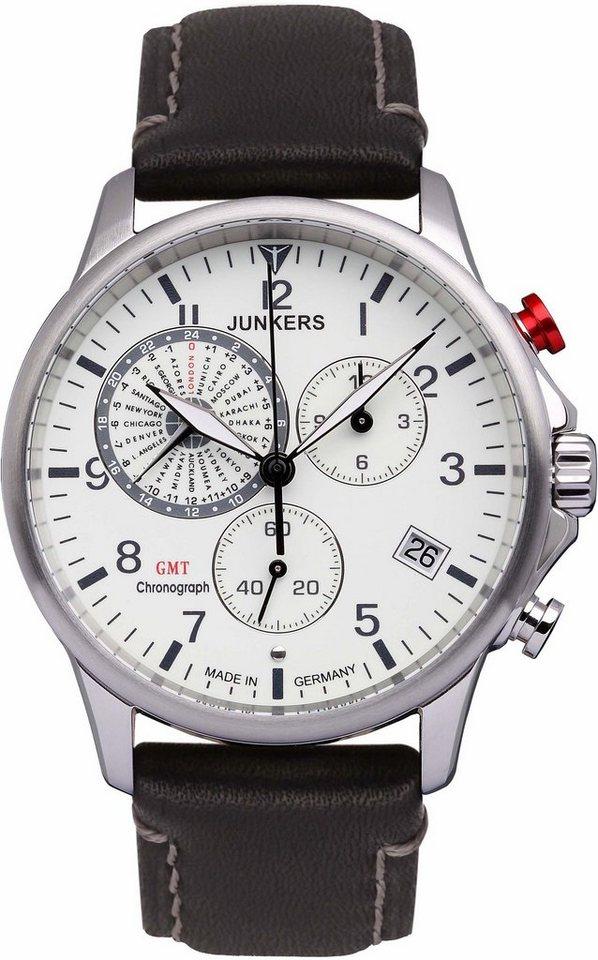 junkers uhren chronograph worldtimer 68925 made in. Black Bedroom Furniture Sets. Home Design Ideas