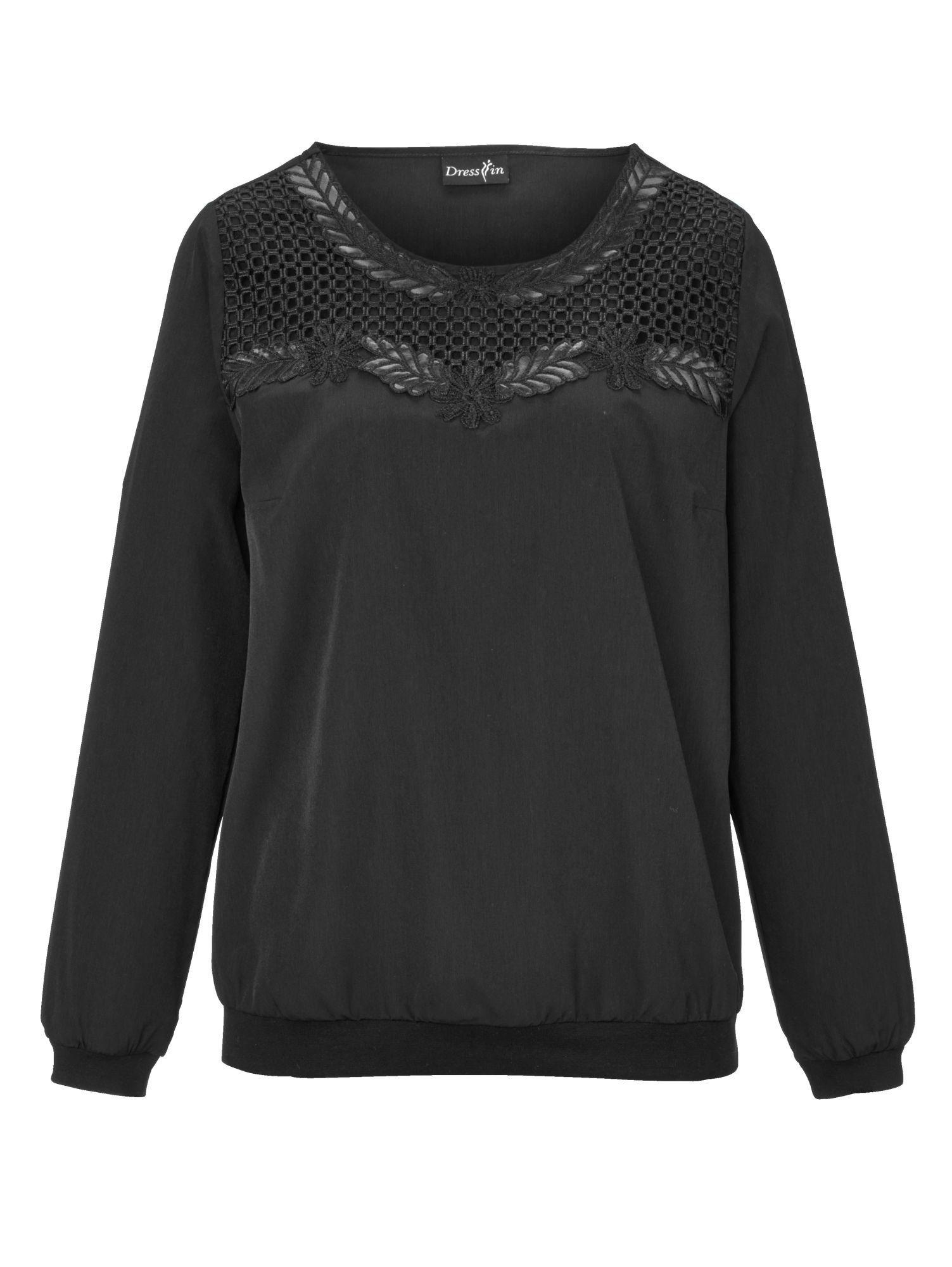 Dress In Tunika mit Spitzenbesatz | Bekleidung > Tuniken > Sonstige Tuniken | Weiß | Polyester - Baumwolle | Dress In
