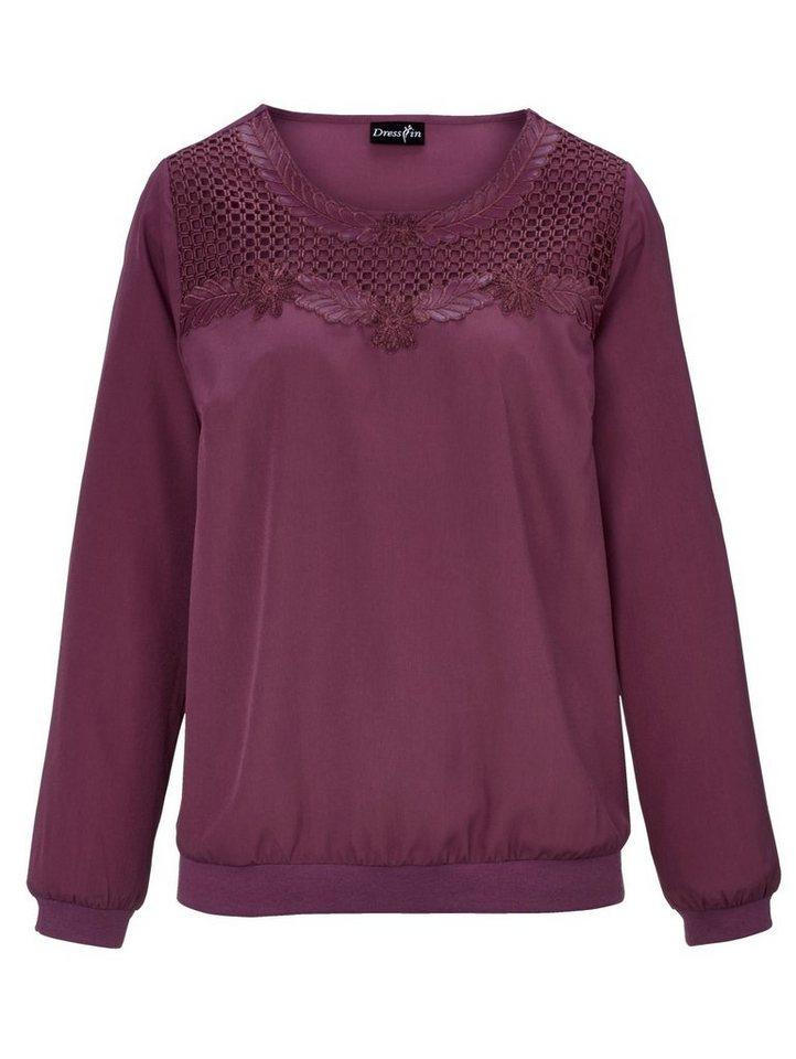 Dress In Tunika mit Spitzenbesatz | Bekleidung > Tuniken > Sonstige Tuniken | Rot | Polyester - Baumwolle | Dress In