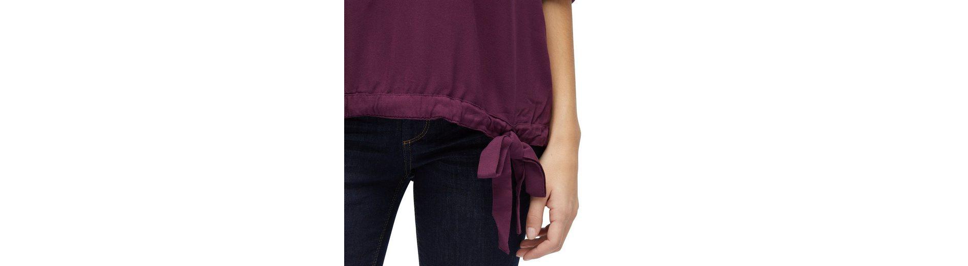 Tom Tailor Langarmbluse Bluse mit Schleifen-Detail Spielraum Angebote qVHSm6WWy