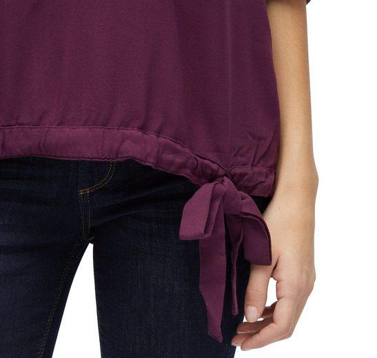 Tom Tailor Langarmbluse Bluse mit Schleifen-Detail