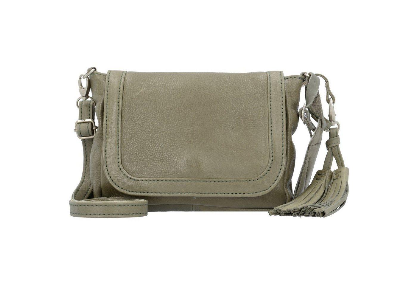 Damen Cowboysbag  Corby Umhängetasche 20 cm Leder grau | 08718586574083