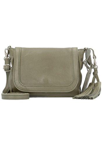 Damen,Kinder,Jungen Cowboysbag Corby Umhängetasche 20 cm Leder grau | 08718586574083