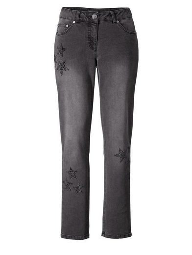 Sara Lindholm by Happy Size Slim Fit Jeans mit Strass