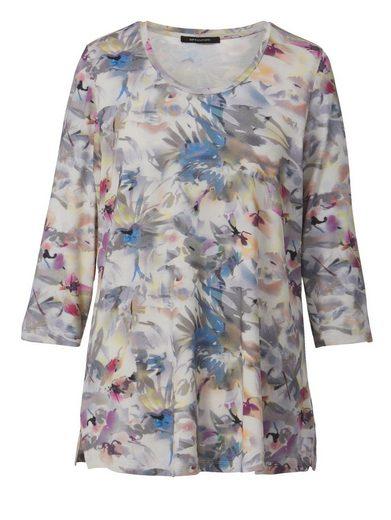 Sara Lindholm by Happy Size Shirt mit Blumen-Print