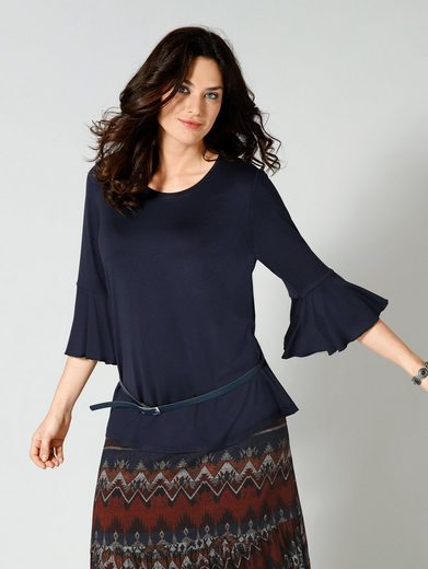 Sara Lindholm by Happy Size Shirt mit Volant