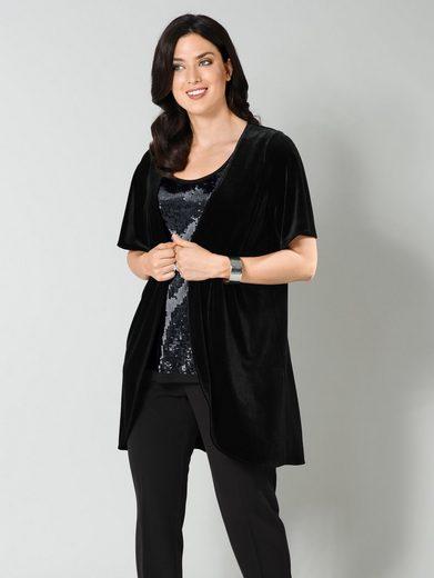Sara Lindholm by Happy Size Jacke aus Samt