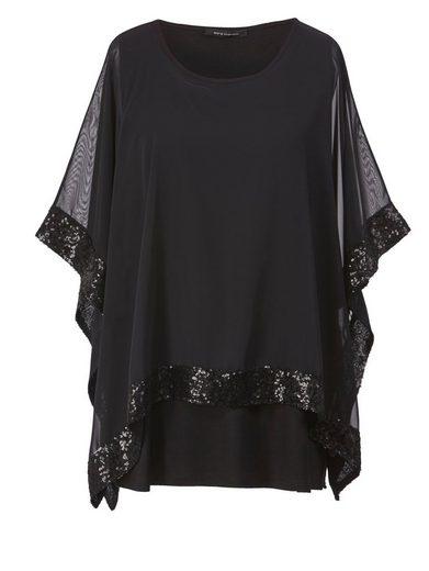 Sara Lindholm by Happy Size 2-in-1-Shirt mit Pailletten