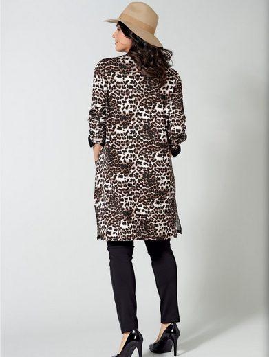 Sara Lindholm by Happy Size Jersey-Jacke mit Leo-Print
